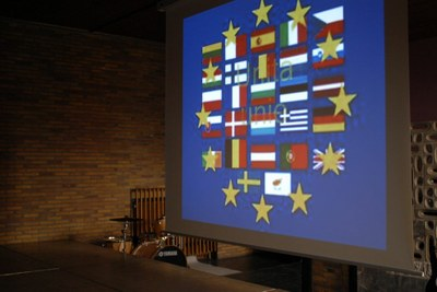 un clip sur l'hymne européenne en latin